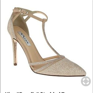 Rosella champagne colored shoes 4 inch heel